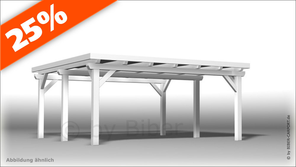 bausatz 5 0 x 5 5m flachdachcarport mit epdm. Black Bedroom Furniture Sets. Home Design Ideas