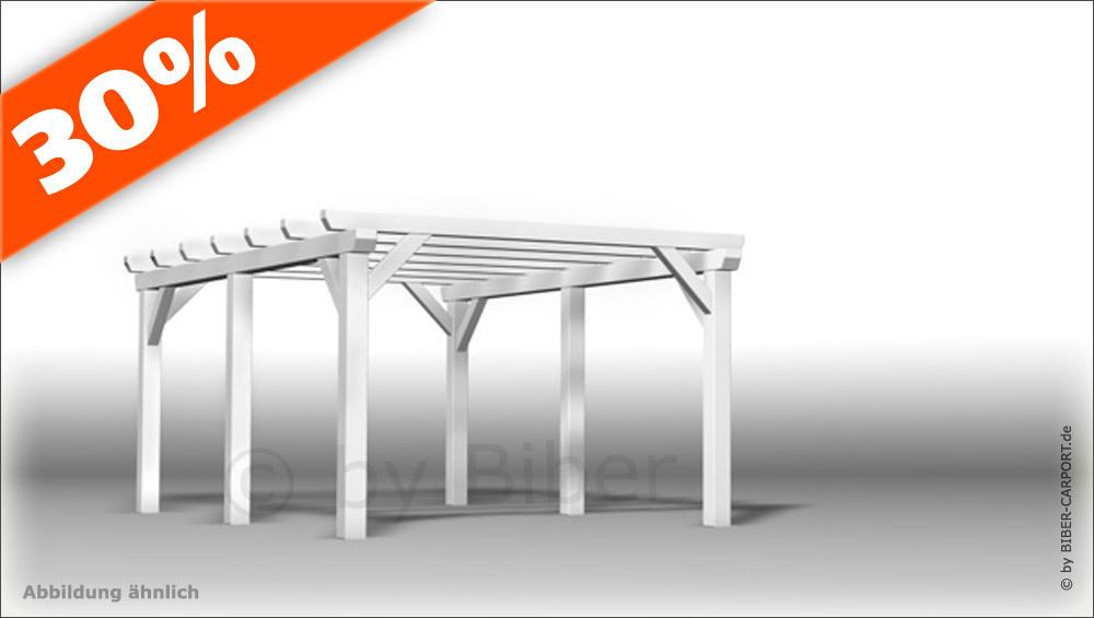 bausatz 3 0 x 6 0m flachdachcarport skelett. Black Bedroom Furniture Sets. Home Design Ideas
