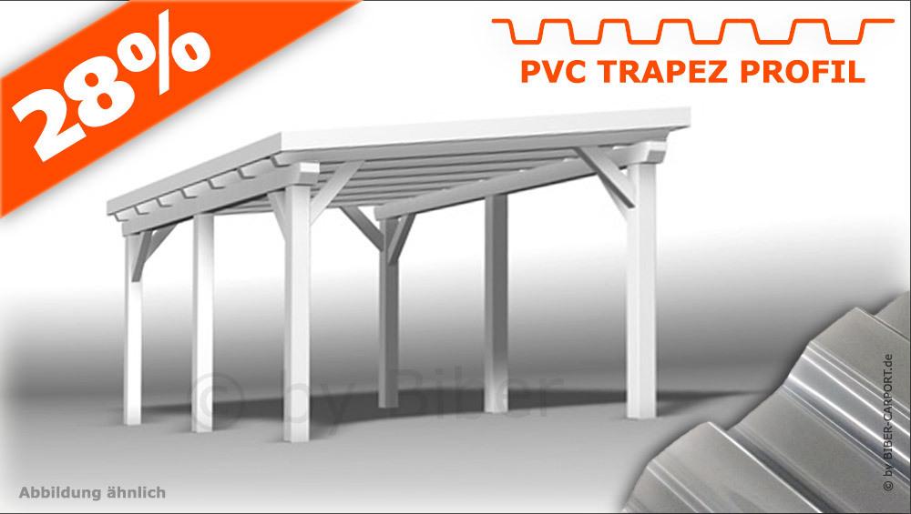 3 0 x 5 0m pultdach carport mit pvc trapez. Black Bedroom Furniture Sets. Home Design Ideas