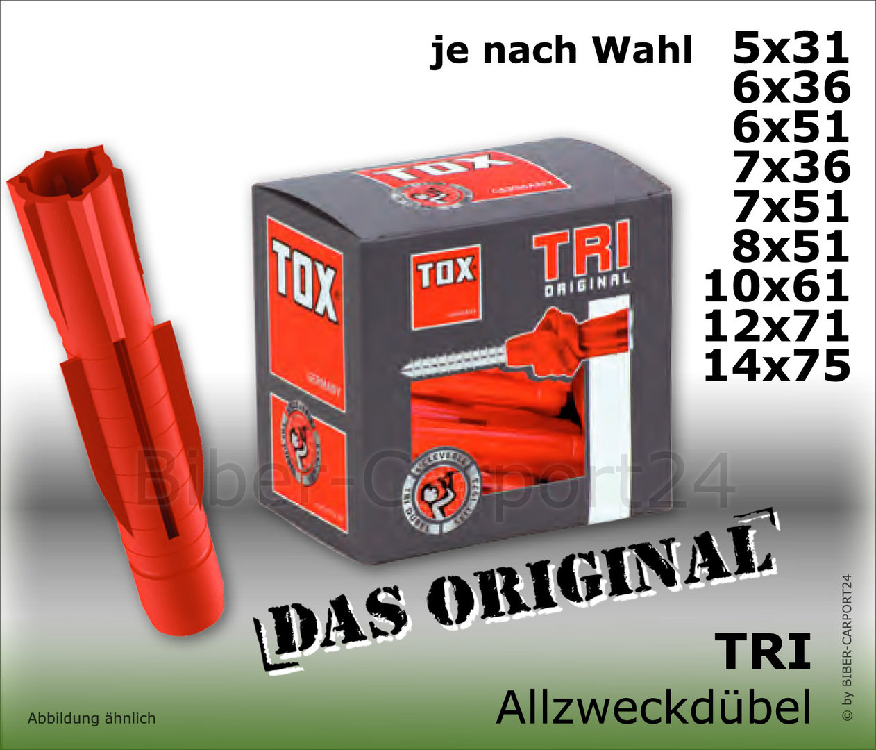 tox tri allzweckd bel verschiedene gr en made in germany. Black Bedroom Furniture Sets. Home Design Ideas