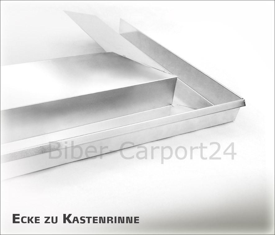 Kastenrinne  Rinnenecke für Kastenrinne-Nr.20,30,31,32,34 - ALU od. Titanzink