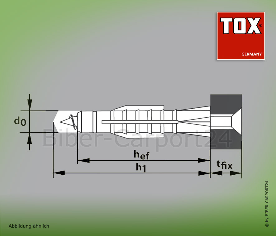 Dübel TOX Tri Universaldübel Allzweckdübel 5//31 6//36 6//51 8//51 10//61 12//71 14//75