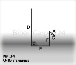 Regenrinne Nr Aluminium oder Titanzink Kastenrinne 34-1 /& 2m